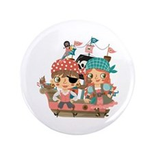 "Girly Pirates 3.5"" Button"