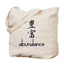 Abundance in English and Kanji Tote Bag
