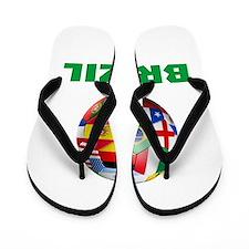 Brazil Soccer Flip Flops