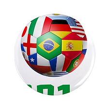 """2014 Soccer Brazil 3.5"""" Button"""