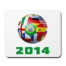 2014 Soccer Brazil Mousepad