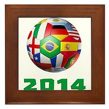 2014 Soccer Brazil Framed Tile