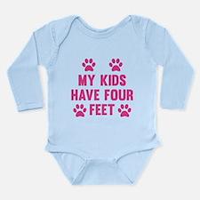 My Kids Have Four Feet Long Sleeve Infant Bodysuit