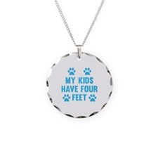 My Kids Have Four Feet Necklace