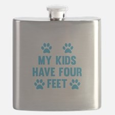 My Kids Have Four Feet Flask