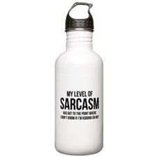 My Level Of Sarcasm Water Bottle