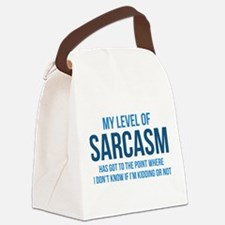 My Level Of Sarcasm Canvas Lunch Bag
