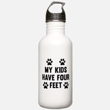 My Kids Have Four Feet Water Bottle