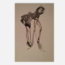 French maid pin-up Postcards (Package of 8)