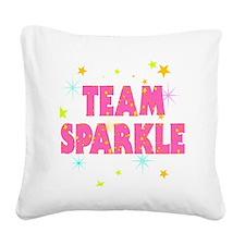 Team Sparkle Square Canvas Pillow