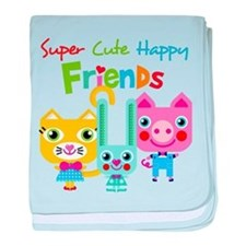 Super Cute Happy Friends baby blanket