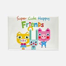 Super Cute Happy Friends Rectangle Magnet