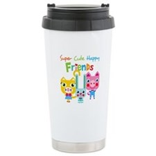 Super Cute Happy Friend Stainless Steel Travel Mug
