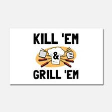 Kill Grill Car Magnet 20 x 12