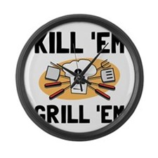 Kill Grill Large Wall Clock