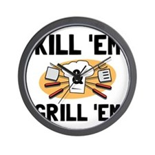 Kill Grill Wall Clock