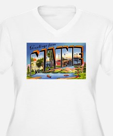Maine Greetings (Front) T-Shirt
