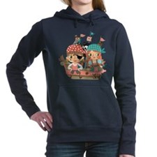 Girly Pirates Women's Hooded Sweatshirt