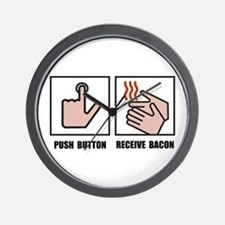 Push Button Receive Bacon Wall Clock