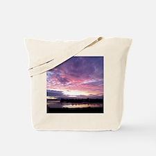 Sunset Sky Purple Tote Bag