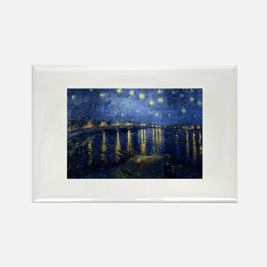 Starry Night Over Rhone Magnets