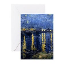 Starry Night Over Rhone Greeting Cards