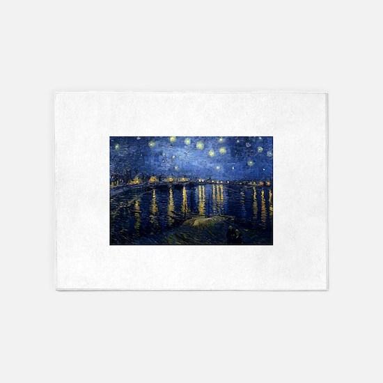Starry Night Over Rhone 5'x7'Area Rug