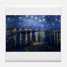 Starry Night Over Rhone Tile Coaster