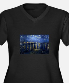 Starry Night Over Rhone Plus Size T-Shirt