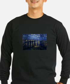 Starry Night Over Rhone Long Sleeve T-Shirt