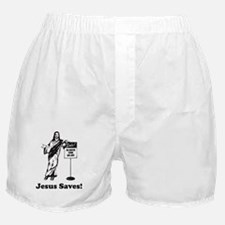 Jesus Saves! Boxer Shorts