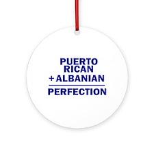 Albanian + Puerto Rican Ornament (Round)