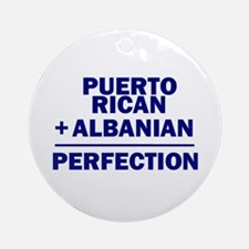 Albanian + Puerto Rican Ornament (Round)