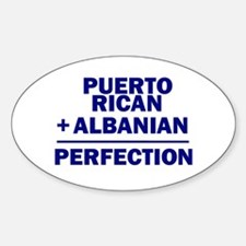 Albanian + Puerto Rican Oval Decal