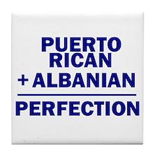 Albanian + Puerto Rican Tile Coaster