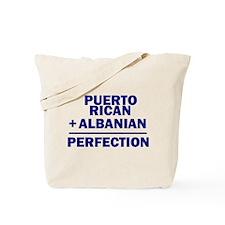 Albanian + Puerto Rican Tote Bag