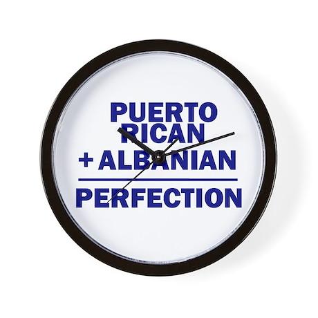 Albanian + Puerto Rican Wall Clock