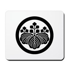 Paulownia with 5_3 blooms in circle Mousepad