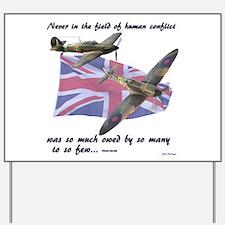 Battle of Britain Yard Sign