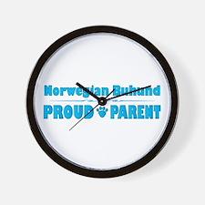 Buhund Parent Wall Clock