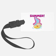Blond Girl Summer Luggage Tag