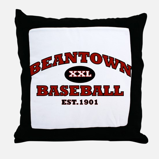 Beantown Baseball Throw Pillow