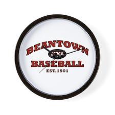 Beantown Baseball Wall Clock