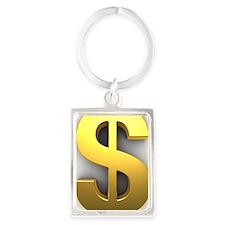 Dollar Sign Portrait Keychain