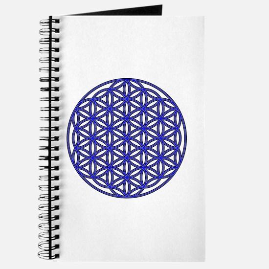 Flower of Life Single Blue Journal
