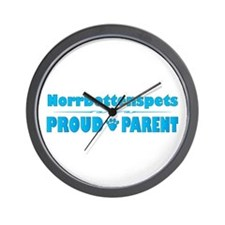 Norrbottenspets Parent Wall Clock