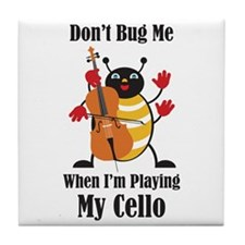 Cello Bug Tile Coaster
