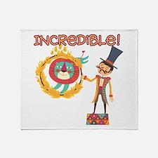 Incredible Circus Throw Blanket