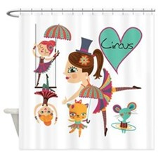 Love The Circus Shower Curtain