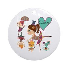 Love the Circus Ornament (Round)